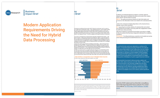 Modern Application Requirements Driving the Need for Hybrid Data Processing